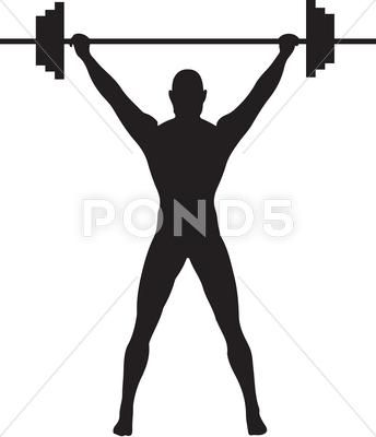 30+ Weightlifting Clipart Black And White