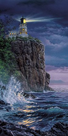 Split Rock Lighthouse - Darrell Bush - Keeping the Light & 103 best Paintings by DARRELL BUSH images on Pinterest | Resins ... azcodes.com