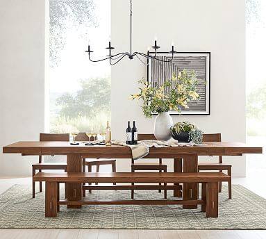 Perfect Pair Menlo Reclaimed Teak Extending Dining Table With