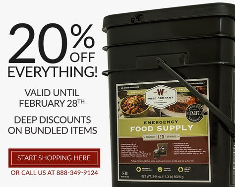 Our most aggressive sale of the year. 20% off everything! No exclusions!