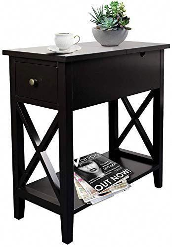 The Perfect Choochoo Flip Top Open End Table Narrow Side Table