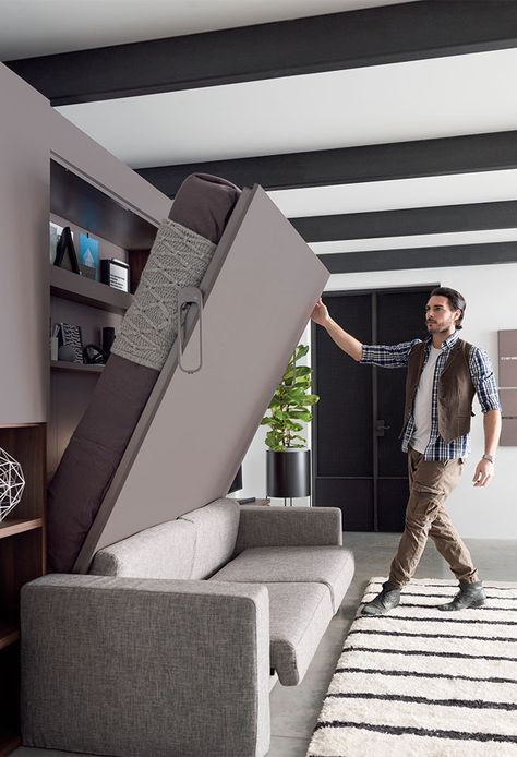 Double wall bed system with sofa IM20_01 | CLEVER