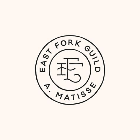 imperfect logo emblem, gives a hand-crafted artisanal feeling