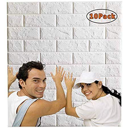Leisime 3d Wall Sticker Self Adhesive Wall Panels Waterproof Pe Foam White Wallpaper For Living Room Tv Wallpaper Living Room 3d Wall Panels 3d Brick Wallpaper