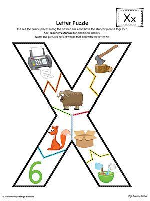 Letter X Puzzle Printable Color Letter A Crafts Preschool Alphabet Letters Alphabet Preschool