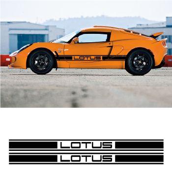 Merveilleux Lotus Car Side Racing Decals Set