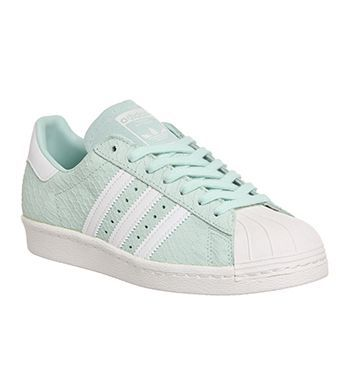 Adidas Superstar 80s (w) Frost Green White Exclusive - Hers ...