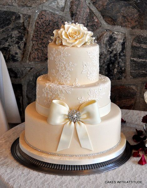 Lovely 3 Tier Ercream Wedding Cake Mariannewhite Flower Pe Extra Things I Like In 2018 Cakes