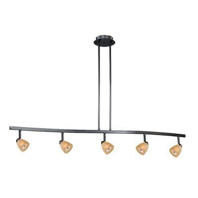 Ebern Designs Mulvaney 5 Light Kitchen Island Pendant Finish Dark Bronze Shade Color Creme Cognac Glass Pendant Lighting Lighting Kitchen Pendant Lighting