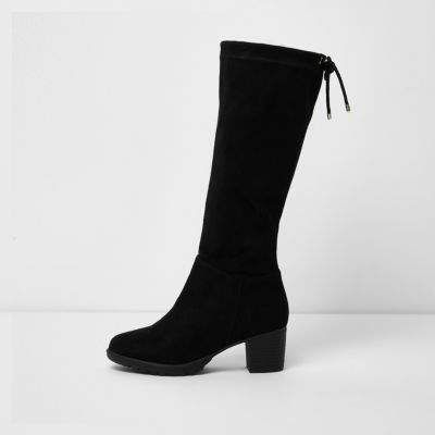 girls long black boots