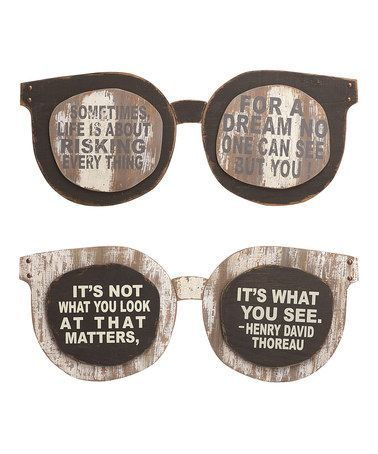 This Wood Eyeglasses Wall Art - Set of Two by Transpac Imports is perfect!