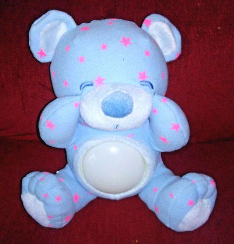 "13.5/"" Pink Baby Girl Teddy Bear Soft Toy Plush Wearing Pink /& White Check Ribbon"