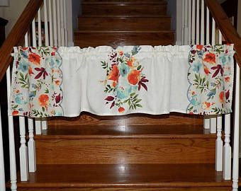 Pioneer Woman Willow Floral Valance Curtain Linens Cookware Utensils Measuring Cups Spoons Pioneer Woman Kitchen Country Cottage Kitchen Valance Curtains