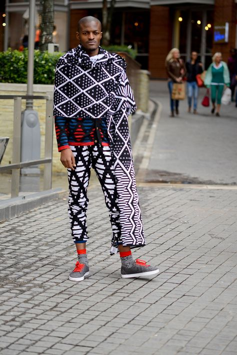 Laduma Ngxokolo is a South African textile and knitwear designer, best known for his men's knitwear range inspired by traditional Xhosa beadwork.