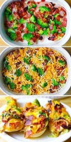 Broccoli Bacon Cheddar Chicken Bake