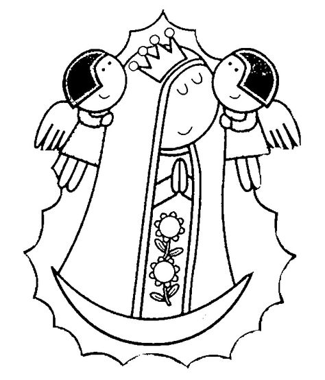 List Of Virgen De Guadalupe Caricatura Para Colorear