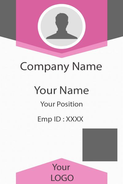 Free Id Card Template Psd Set Employee Id Card Id Card Template Card Templates Free