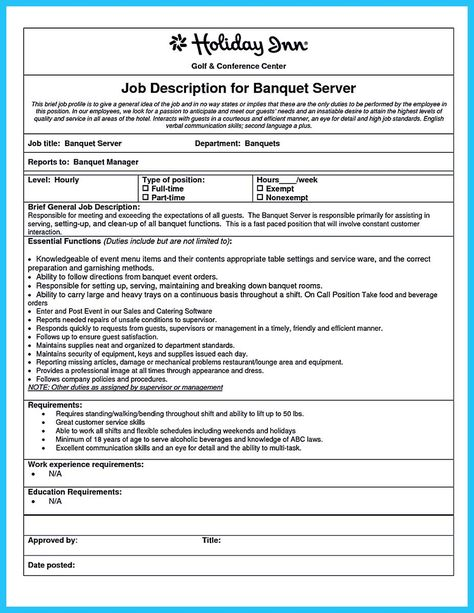 We already knew that we must put our educational information to - catering server resume sample