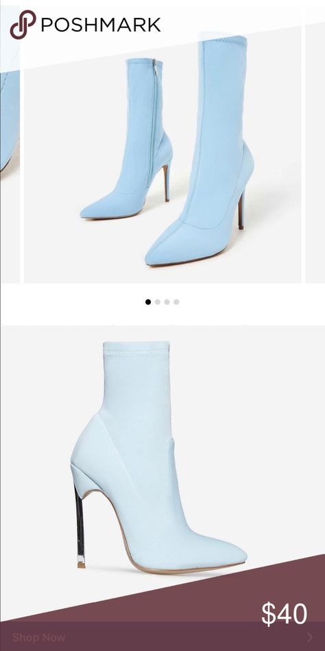 Baby blue sock boots NWT (With images