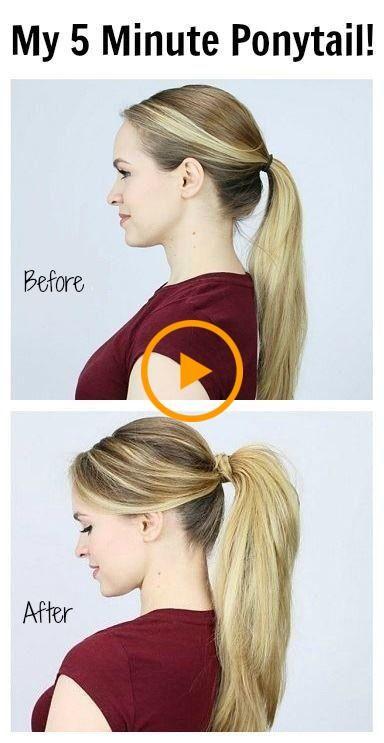 Como Obtener El Poni Perfecto Que Puedes Usar Cualquier Dia Pony Hairstyles Long Hair Styles Hair Styles
