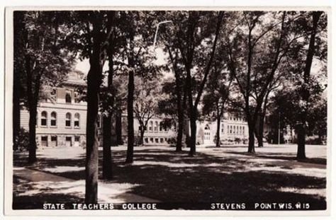 Central State Teacher/'s College STEVENS POINT Wisconsin Vintage POSTCARD
