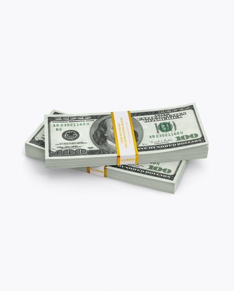 Money Stacks Mockup In Object Mockups On Yellow Images Object Mockups Mockup Free Psd Free Mockup Mockup Free Download