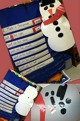 A poem to help teach sight words and how to build a snowman! AND A FREEBIE!