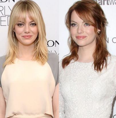 43 Trendy Hair Brown Bangs Emma Stone Emma Stone Hair Red Hair