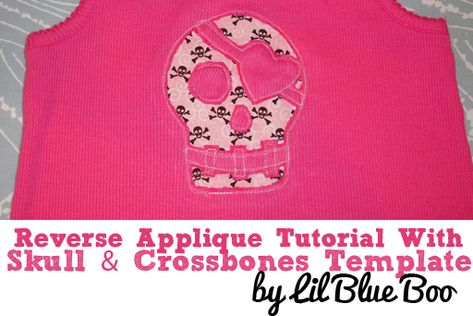 Reverse Applique Tutorial via lilblueboo.com