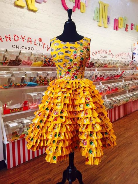 We especially love the dresses made out of candy wrappers.