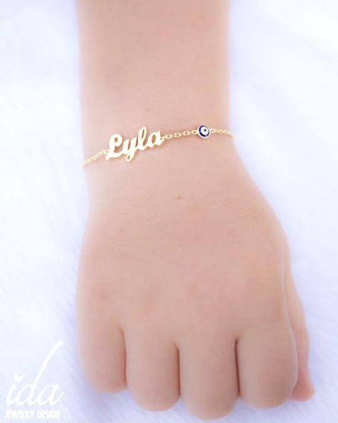 Custom Name Charm Bracelet, Personalized Baby Shower Gift, Baby Girl Gift, Personalized Baby Unique