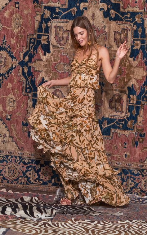 All I'Ve Ever Known Silk Tiered Maxi Dress by JOHANNA ORTIZ for Preorder on Moda Operandi
