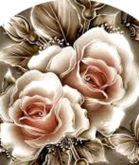 20 Water Slide Nail Art Transfer Platinum Rose Full Nail 4 Sizes Trending
