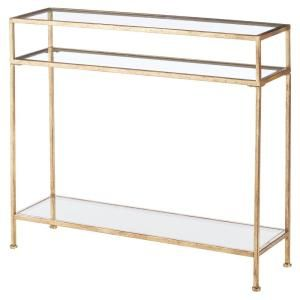 Home Decorators Collection Bella Aged Gold Narrow Glass Console Table 9966800910 Green Living Room Decor Home Decor Foyer Decorating