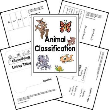 Clasificación de los animales lapbook