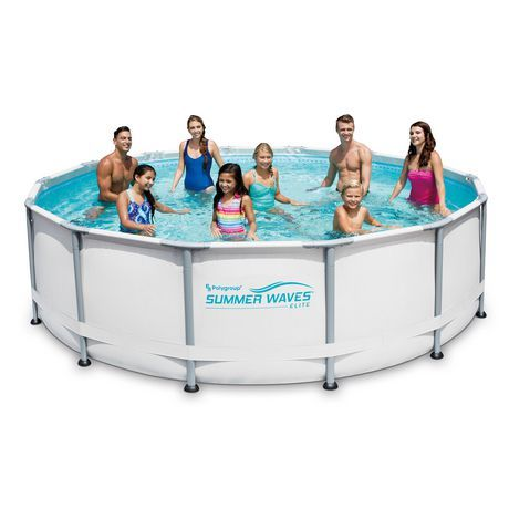 14 X42 Elite Frame Pool Walmart Canada Above Ground Swimming Pools Summer Waves Best Above Ground Pool