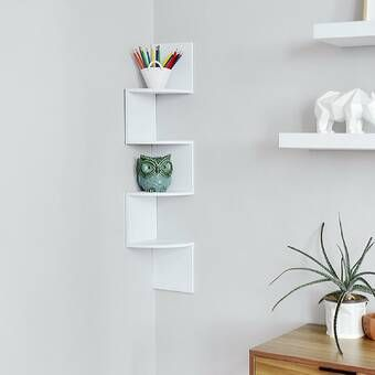 4 Tier Corner Shelf Corner Wall Shelves Wall Shelves Wall Mounted Corner Shelves
