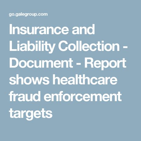 Insurance and Liability Collection - Document - Report shows - liability document