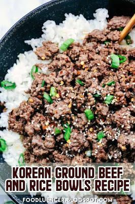 This Korean Ground Beef And Rice Bowls Is A Korean Dish That Is Very Easy To Make And Has Del With Images Korean Ground Beef Easy Rice Recipes Recipes With Beef
