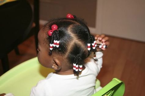 When We Started Using Hair Beads Black Baby Girl Hairstyles, Cute Toddler Hairstyles, Natural Hairstyles For Kids, Kids Braided Hairstyles, Natural Hair Styles, Short Hair Styles, Toddler Hair Dos, Easy Hairstyle, Wedding Hairstyle