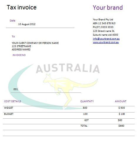 Australian Tax Invoice 19 Austrialian Tax Invoice Templates - invoice template australia