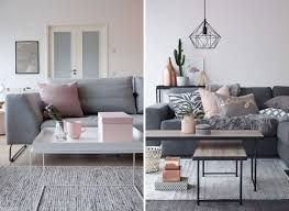Rose Gold Pink And Grey Living Room Google Search With Images