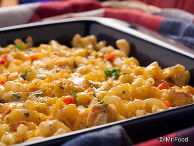 Yankee Doodle Macaroni Casserole - A family-friendly baked mac and cheese dinner recipe.