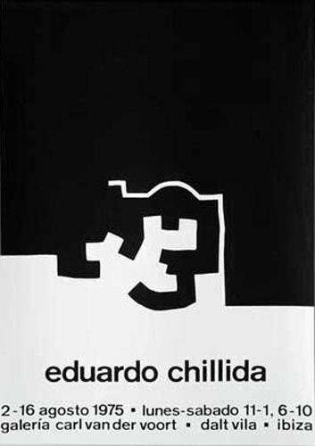 Eduardo Chillida Galerie Van Der Voort 1975 Siebdruck Ibiza Plakat