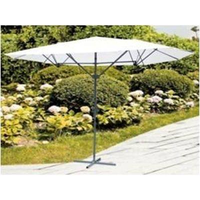 triple vent market umbrella with base