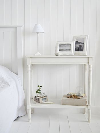 Large Bedside Table From The Colonial White Range Of Furniture