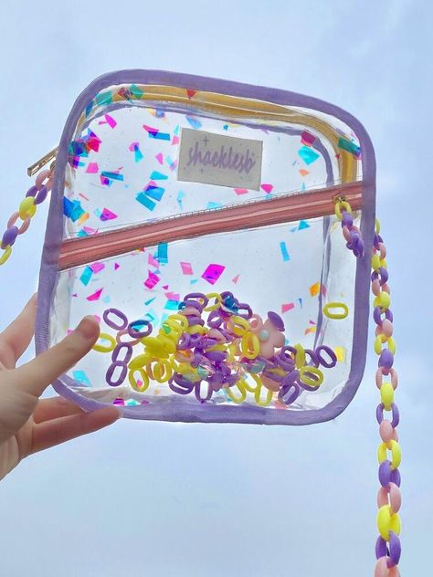 Material: plastic Dimension: Large bag: 7.5 x 8.2 x 2.3 in | 19 x 21 x 6 cm Small bag: 6.7 x 7.5 x 1.5 in | 17 x 19 x 4 cm Large Bags, Small Bags, Aesthetic Bags, Kawaii Bags, Novelty Bags, Transparent Bag, Kawaii Room, Fashion Eye Glasses, Tote Backpack