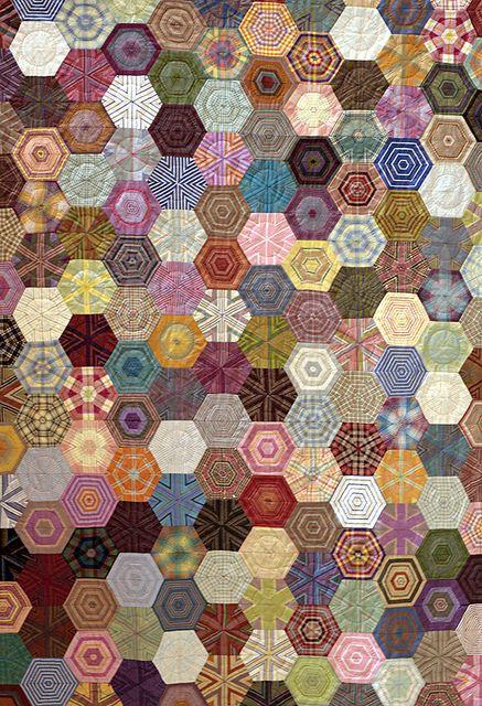 .beautiful hexagon quilt