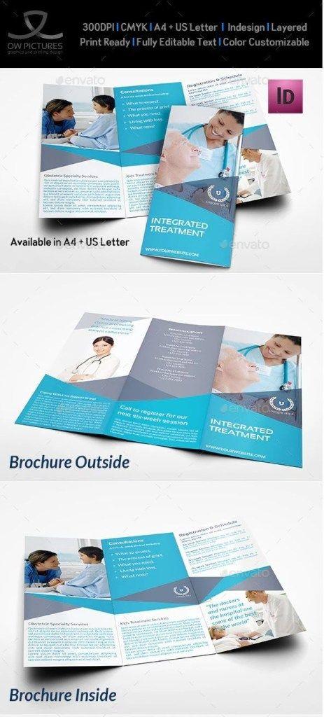 Medical Care Tri Fold Brochure Template Free Medical Medical Brochure Free Brochure Template Brochure Template