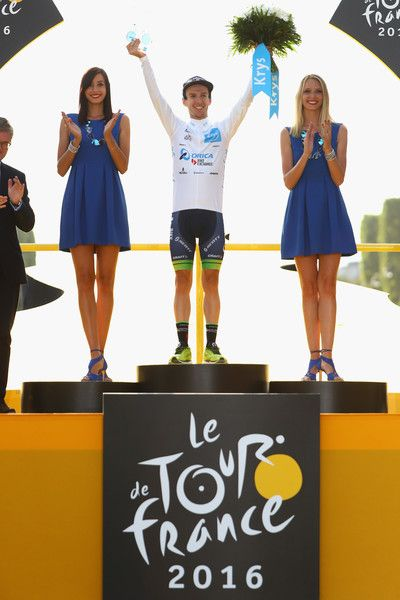 Adam Yates wins the young riders white jersey Tour de France 2016  Getty Images